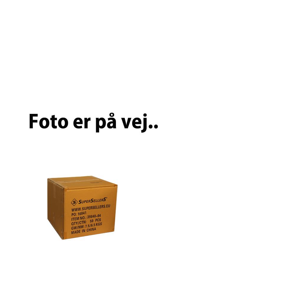 Konfektionsbøjle m/ hak - hvid