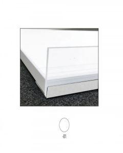 Hylde - skrå melaminplade (119 x 27 cm)