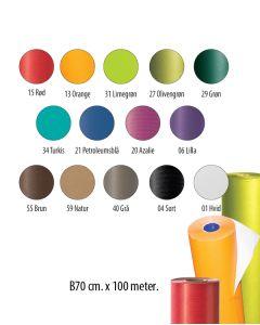 Gavepapir - Ensfarvet B70 - kraftpapir