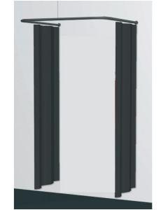 Prøverum, frihængende - U-formet - sort