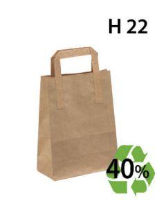 Papirpose, Genbrugspapir - Lille - 100 stk.