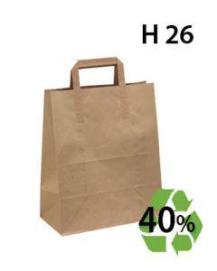 Papirpose, Genbrugspapir - Mellem - 100 stk.