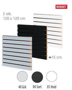 Rillepanel - Budget (120 x 240 cm.)