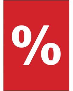 Plakat - Procent % - 50 x 70 cm