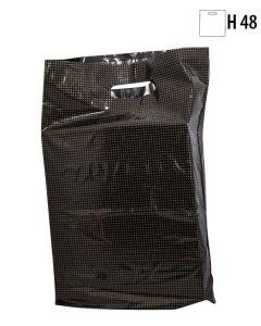 Plastpose - Sort m/ guldprik