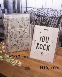 Postkortholder - klar (H 19,2 cm.)