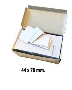 Papskilte t/ pins 44 x 70 mm. 1.000 stk.