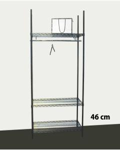 Garderobe Reol - TUBO (B 91 x D 46 x H 220 cm.) - Sort