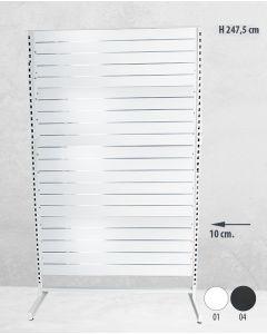 Panelgondol enkeltsidet - 127 x H247,5 cm.