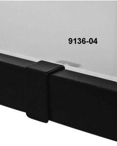Glashyldebeslag t/ 12 mm. U-bøjlestang - Sort