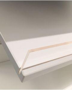 Skrå melaminhylde - Hvid B 59 x D 27 x T 2 cm.