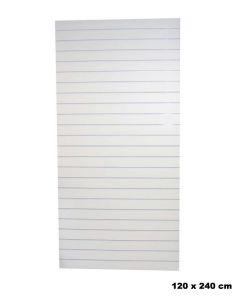 Rillepanel - Hvid - Standard (120 x 240 cm.)