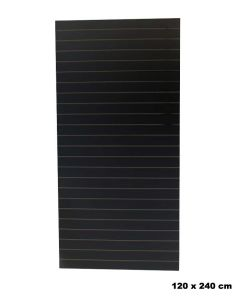 Rillepanel - Sort - Standard (120 x 240 cm.)