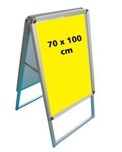 A-skilt (70 x 100 cm.) - runde hjørner - snap-ramme