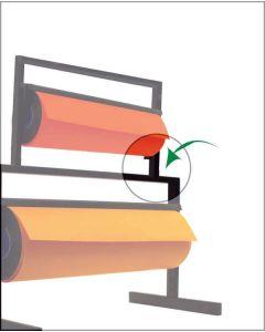 Koblingsbeslag til papirafrullere. Sæt med højre og venstre