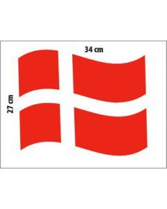 Stort dansk flag (B 34 x H 27 cm.)
