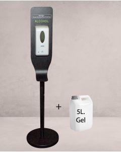 Automatisk spritdispenser og 5L.gel.