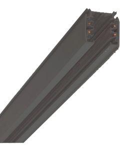Strømskinne - 2 Meter -3F - Sort -  Global