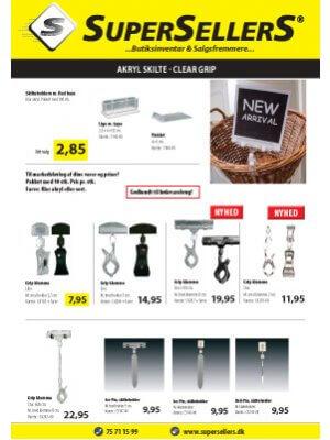 Brochure Clear Grip og akrylskilte