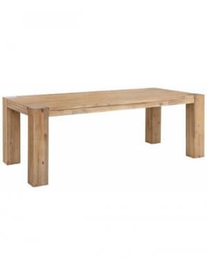 Stort Mette spisebord med hvid bejdse