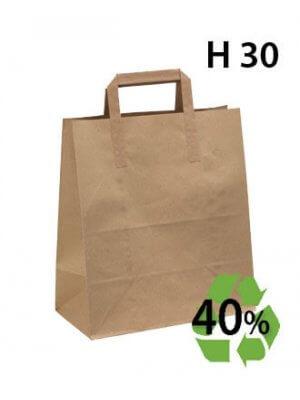 Papirpose, Genbrugspapir - Stor - 100 stk.