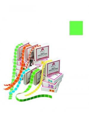 Farvede kvadratiske etiketter u/ tryk - 1.000 stk.