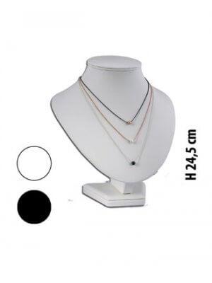 Halssmykkedisplay med højde 24,5 cm.