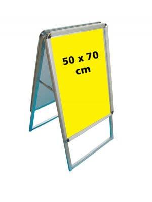 A-skilt (50 x 70 cm.) - runde hjørner