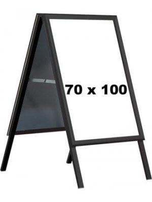 A-skilt - 70 x 100 cm. - Sort