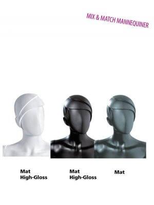 Skulptureret dame mannequinhoved