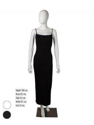 Hvid eller sort damemannequin uden ansigtstræk