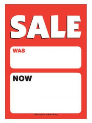 A4 salgsskilt - Sale