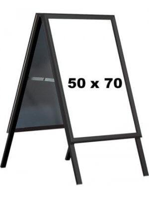A-skilt - 50 x 70 cm. - Sort