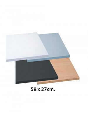 Hylde - melaminplade (59 x 27 cm.)