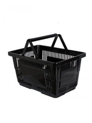 Indkøbskurv på 24 liter lavet i sort plast
