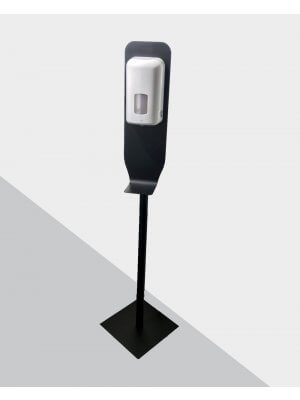 Dispenser t/ hånddesinfektion på stander, sort