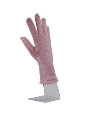 Stående højre hånd lavet i klar akryl