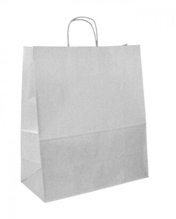 Ekstra stor hvid papirspose