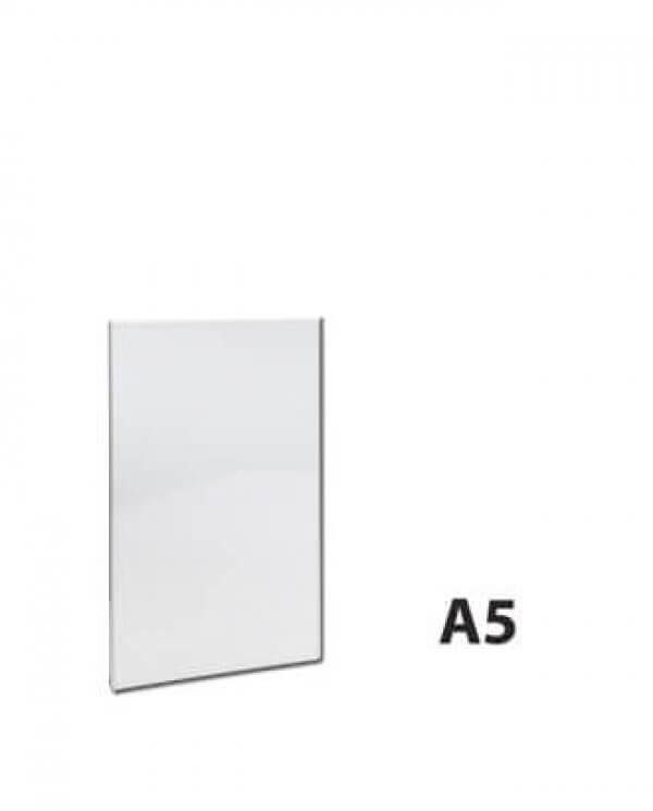 A5 skiltelomme i klar akryl