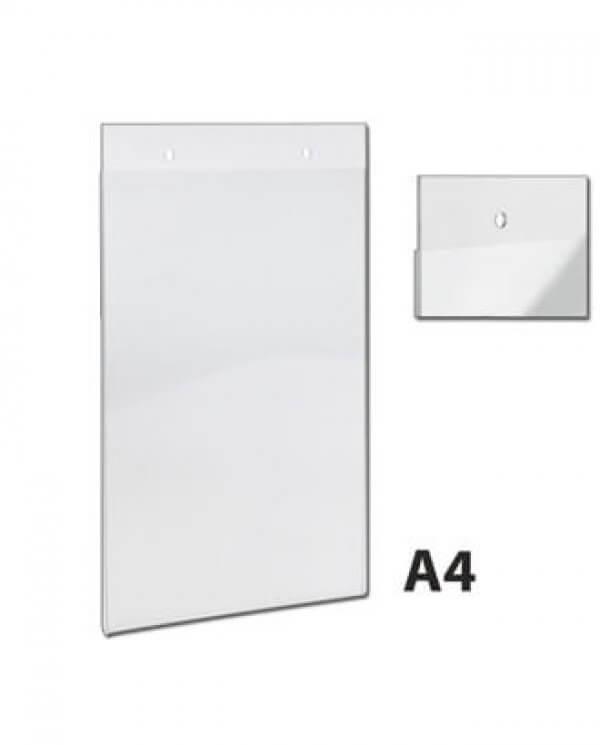 A4 skiltelommer i klar akryl
