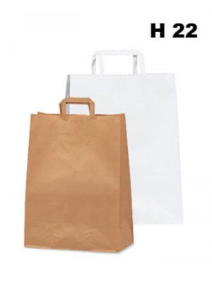 Papirpose - 200 stk. - H 24 cm. - STORKØB