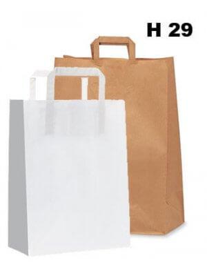 Papirpose - 200 stk. - H 29 cm. - STORKØB
