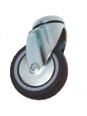 75 mm gummihjul uden bremse