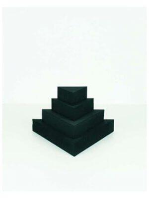 Smykkedisplay trekant sæt, Sort