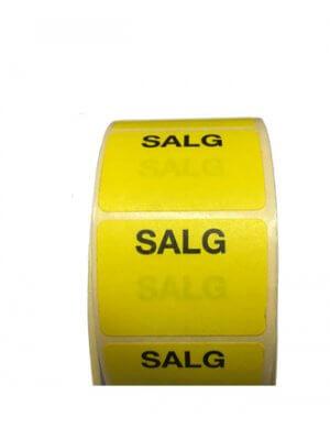 Etikette gul - SALG - 1.000 stk.