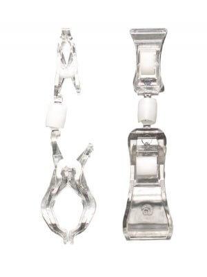 Clear Grip skilteholder - lille klemme, H 11 cm.