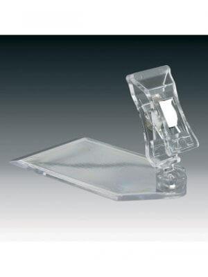Clear-Grip lav skilteholder med lille klemme