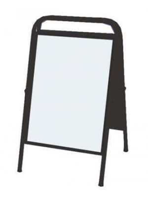 Sort sandwich-skilt (50 x 70 cm.)