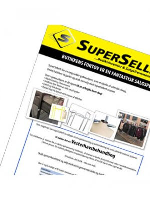SuperSellerS Brochure. Gadestativer
