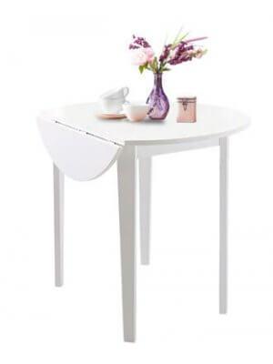 Hvidt rundt Trend bord med klap